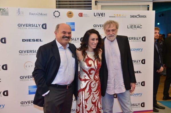 Oscar Farinetti, Francesca Vecchioni e Gino Strada